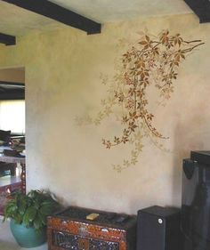 Stencilling idea for over seating area
