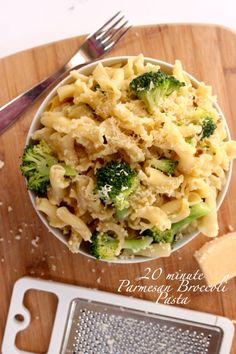 Broccoli Parmesan Pasta -- Takes twenty minutes to make..MAX. And only 5 ingredients!? What?! So so easy for those nights when you are tired from class...oh have I mentioned this recipe is cheap!?