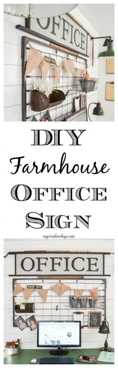 DIY Farmhouse Office
