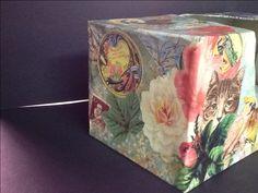 Tissue box #1c ~ ©NSoppelsa ~ #collage #art #cat #decoupage #ephemera #decor