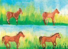 #Malanleitung Pferd von Pinselstrich  auf DaWanda.com
