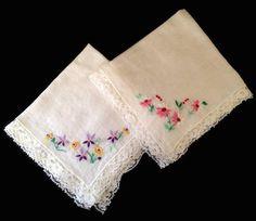 A #Vintage Ladies Handkerchiefs Authentic Antique by AbundantArtsVintage