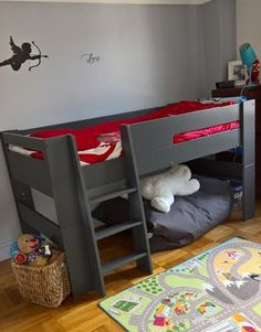 Le lit enfant mi hauteur Wax gris de Marilyne #chambre #enfant #lit #enfant