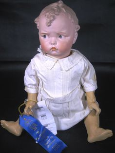 Antique Grumpy Gebruder Heubach 8548 Mold German Doll ~ RARE! from victoriasdollhouse on Ruby Lane