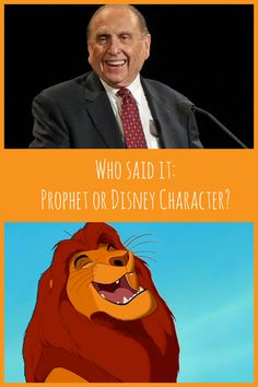 Who Said It: Prophet or Disney Character? This is a free download to play with your friends & family! Great for a Young Women activity, or combined Young Men/Young Women activity, or even a Family Home Evening activity.