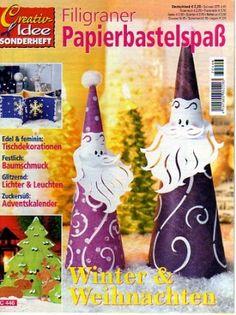 Filigraner karácsony - Angela Lakatos - Picasa Webalbumok Xmas, Christmas Ornaments, Kirigami, Free Books, Quilling, Cross Stitch, Album, Magazines, Holiday Decor
