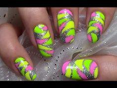 Mosaik Nägel / Buntes Sommer Nageldesign / Colorful Nail Art Design Tuto...