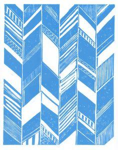 Motif chevron bleu clair