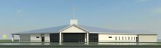 New construction of church and multipurpose facility in Sarasota New Construction, Garage Doors, Shed, Outdoor Structures, Architecture, Outdoor Decor, Home Decor, Arquitetura, Decoration Home