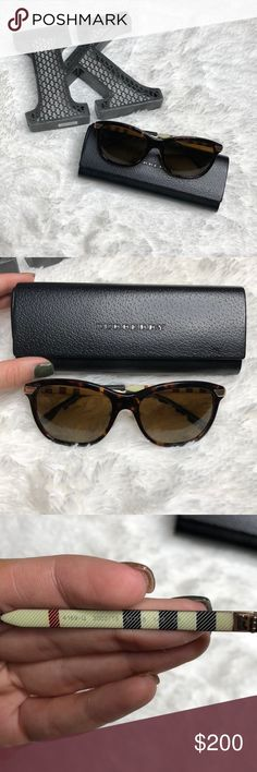 7d8b29558dd9 Polarized Burberry Sunglasses Authentic tortoise brown Burberry sunglasses  with nose pads. Style# B Very lightly worn and original case and cleaning  cloth ...