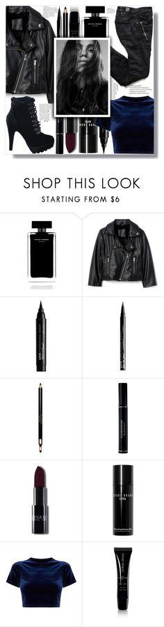 """""""The bad girl"""" by the-greatest-eva-made ❤ liked on Polyvore featuring Narciso Rodriguez, NYX, Clarins, Christian Dior, Bobbi Brown Cosmetics and Giorgio Armani"""