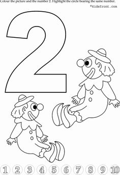 Kids Math Learning, Kids Math Activities, Numbers with Pictures - Nursery Math Printable Exercise -