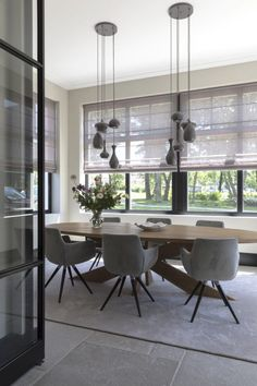33 Lovely Contemporary Dining Room Design Ideas - The latest trends, the newest styles, ah, this is what makes the world go around. Contemporary dining room sets can help you to make a statement about. Dining Room Design, Dining Room Furniture, Dining Room Table, Dining Area, Small Dining, Dining Chairs, Dining Sets, Kitchen Dining, Room Interior