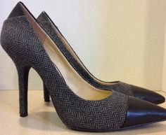 BCBGENERATION Duboise Womens Heels Pumps BCBG Black Gray Herringbone 10 / 40
