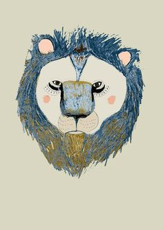 The Lion Limited edition art print by Ashley by AshleyPercival, $40.00