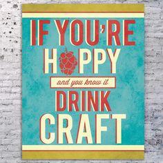 Beer Quote Art Print Beer Sign Craft Beer Art by SmartyPantsStudio, $24.00