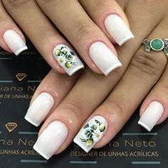 Models of French Decorated Nails Designs For 2018 - Fashionre Korea Nail Art, Fake Gel Nails, Beautiful Nail Polish, Minx Nails, Finger, Nail Art Galleries, Nail Tutorials, Nails Magazine, Cool Nail Art
