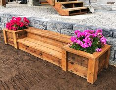 Outdoor Planter Steps or Benches Ana White is part of Woodworking projects - These outdoor planter steps are easy to make and could also work as outdoor benches Free plans by ANAWHITE com Wooden Planters, Outdoor Planters, Diy Planters, Outdoor Benches, Wooden Steps Outdoor, Deck Benches, Outdoor Landscaping, Easy Woodworking Projects, Popular Woodworking