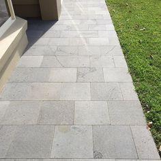Blustone paving from @bamstone_bluestone for an entry way #bluestonepaving #knowlesbricklaying #warrnambool3280 #warrnambool #3280 by knowlesbricklaying