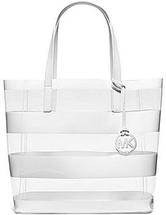 3276c4013044 MICHAEL Michael Kors Eliza Striped Clear Medium Tote