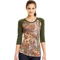 Under Armour® Women's Camo Charged Cotton® 3/4 T-Shirt
