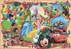 Educa 1000 Parça Puzzle Disney s World