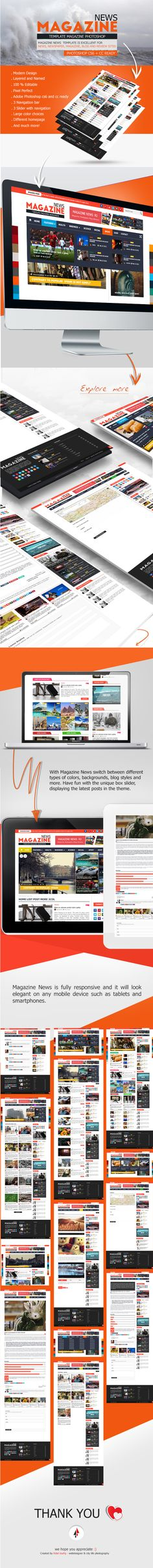 Behance :: Editing Magazine News is excellent for news, magazine, blog...