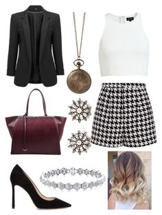 """Untitled #751"" by princesschristina2000 ❤ liked on Polyvore featuring Emma Cook, Jimmy Choo and Fendi"