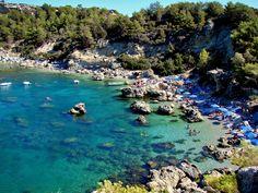 "Anthony Quinn Bay, Rhodes, Greece where ""The Guns of Navarrone"" was filmed"