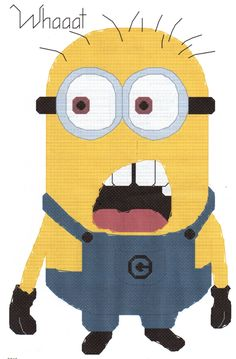 Despicable Me Minion saying Whaaat Cross Stitch Pattern. $3.40, via Etsy.