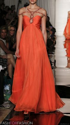 Sherri Hill  - extraordinary orange gown