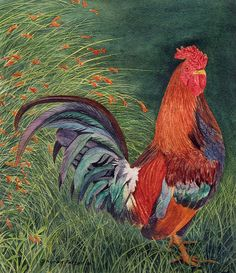 Rooster painting by painted path, via Flickr