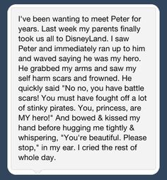 Faith In Humanity Restored I think I just fell in love with Peter Pan Disney Love, Disney Magic, Walt Disney, Disney Parks, Disney Cast, Disney Bound, Disney Memes, Disney Quotes, Disney Stuff
