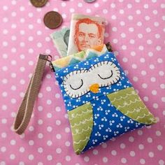 DIY Owl Card Bag Kit. Includes ALL Materials and Pattern. $16.00, via Etsy.