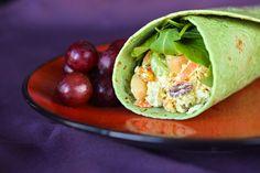 Chicken Salad Curry Wrap
