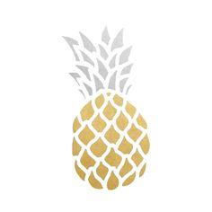 Pineapple set of 10 premium waterproof metallic gold & silver tropical temporary tattoos from Flash Ananas-Set mit 10 erstklassigen wasserdichten Gold- und Silbertattoos von Flash Beach Inspired Tattoos, Pinapple Tattoos, Tropical Tattoo, Card Tattoo, Custom Tattoo, Temporary Tattoo, Tiny Tattoo, Fun Activities, Party Supplies