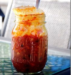 7 Must-Try Mason Jar Meals: Sweet and Spicy Cornbread-Topped Chili