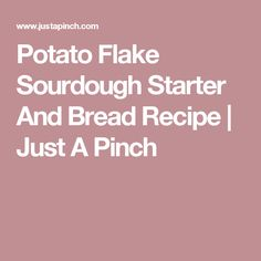 Potato Flake Sourdough Starter And Bread Recipe Just A Pinch