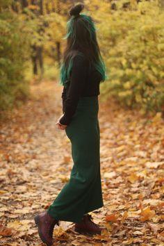 green hair girl from Moldova Green Hair Girl, Moldova, Girl Hairstyles, November, Archive, Autumn, Long Hair Styles, November Born, Fall Season