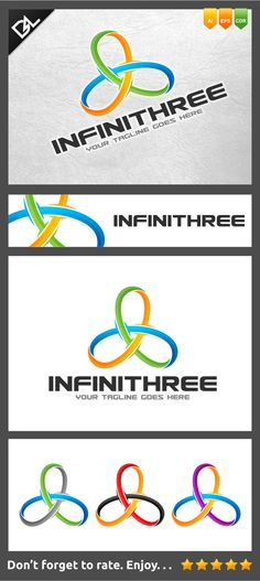 Infinithree Logo Template by Jefry Maviskho, via Behance