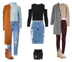 """""""3 fall /winter fashion"""" by crazylove71 ❤ liked on Polyvore featuring Le Kasha, WithChic, Warehouse, UGG, Moschino, My Mum Made It, Frye, J Brand, Gap and Timberland"""