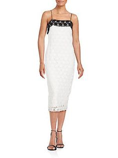 Yigal Azrouel Hibiscus Lace Dress - White - Size 8