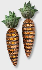 Hemmerle carrot earrings with orange sapphires, white gold and copper