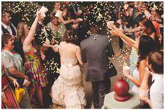 #popcornexit #weddingexitideas   @Kelli at Nine Photography