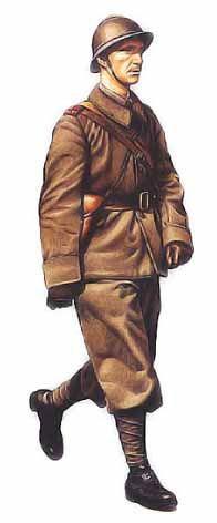 sargento del 1er Regimiento de Infanteria, FRANCIA 1940