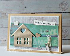 Cards made by Wybrich: Marianne Design Challenge 135 Tiny Little Houses, Marianne Design Cards, New Home Cards, Paper Cards, Art Cards, Paint Colors For Living Room, Some Cards, Stampin Up Cards, House Warming