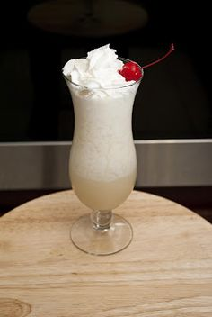 Amaretto Colada ---- 1 oz amaretto * 1 1/2 oz light rum * 3 pineapple juice * 1 oz cream of coconut * 1 tsp whipping cream (I used milk) ----    In a blender add 1 cup of ice, and all ingredients. Blend until all of the ice is gone. Pour it into a hurricane glass.  You can top it off with whipped cream and a cherry or nothing at all.