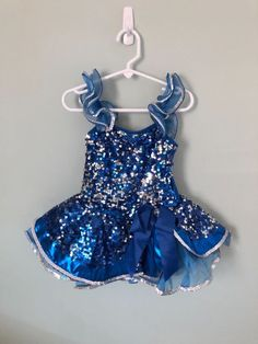 NEW ROYAL BLUE Dance Costume BLOOMERS KNICKERS SEQUIN TRIM UNISEX Xsmall child
