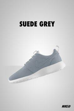 Nike Roshe Run suede grey created on Nike iD
