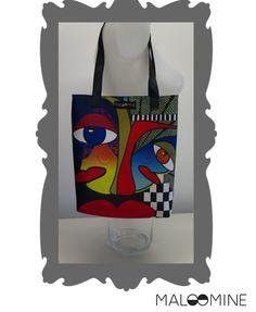 Tote bag original imprimé recto verso : Sacs à main par maloomine